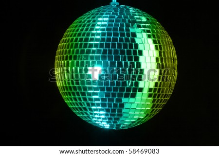 Disco ball at party