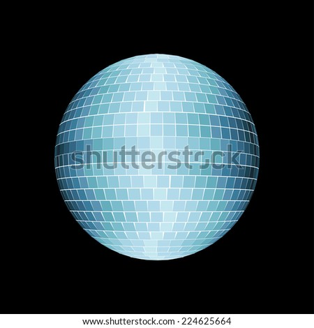 Disco ball isolated on black - stock photo