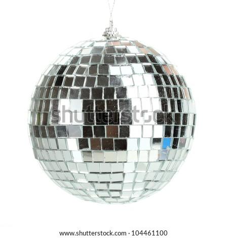 disco ball isolated on white - stock photo