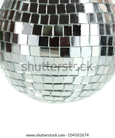 disco ball isolated on white - stock photo
