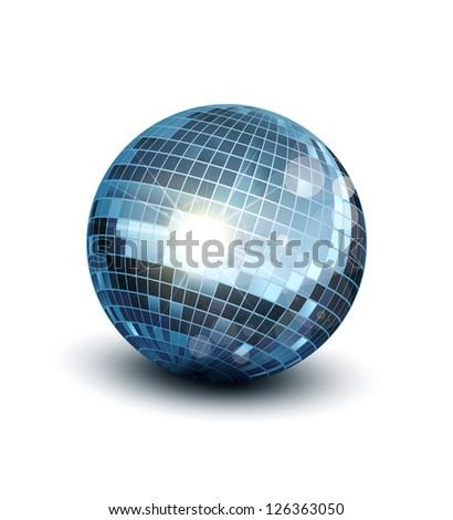 disco ball on a white background - stock photo