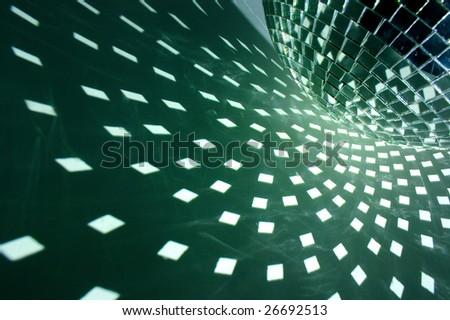 disco ball with illumination - stock photo