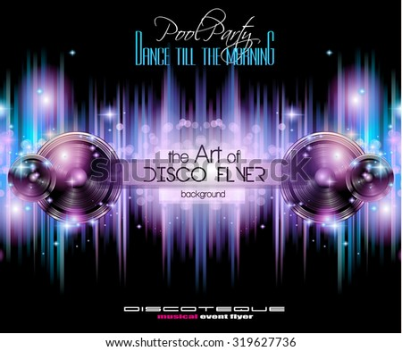 Disco Club Flyer Template Your Music Stock Illustration