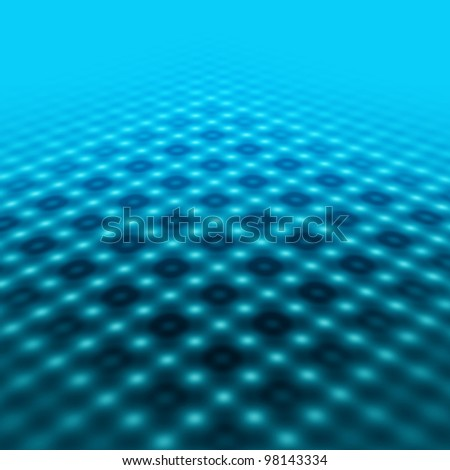 disco dance floor abstract blue background - stock photo