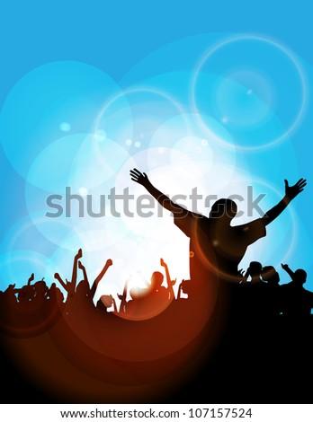 Disco event background - stock photo