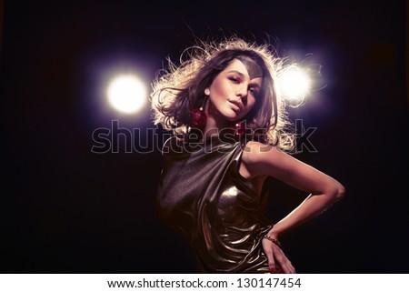 Disco fashion queen - stock photo