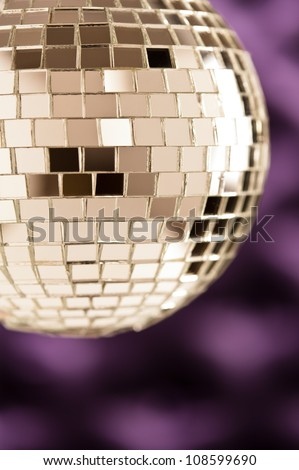 Disco Mirror ball as a sphere clean with no disturbing reflections - stock photo