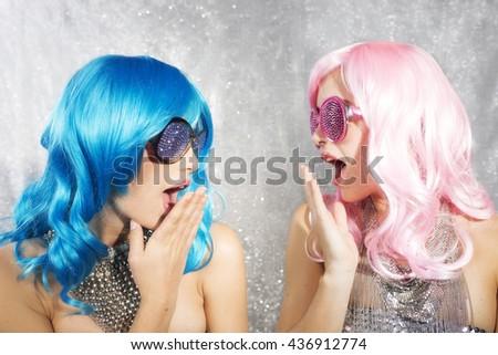 disco twins gossip - stock photo