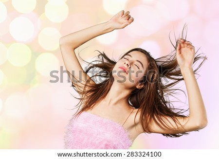 Disco, vogue, model. - stock photo