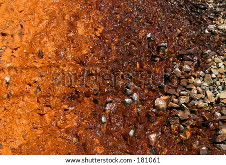 Discolored soil. - stock photo