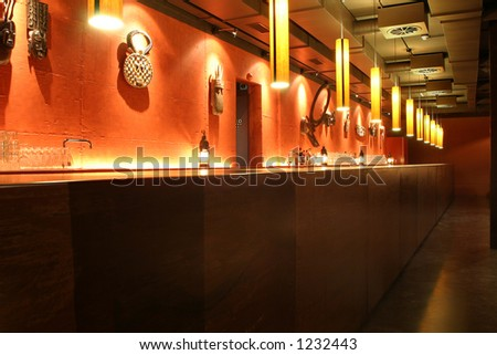 discotheque bar room empty atmosphere Africa style