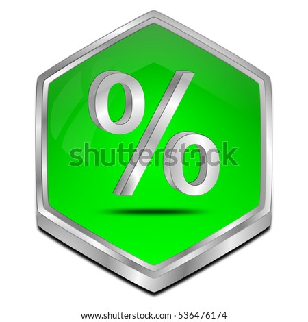 Discount button - 3D illustration