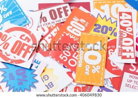 Discount coupon - stock photo