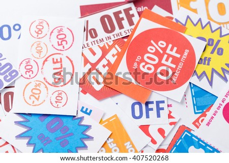 Discount coupon - stock photo