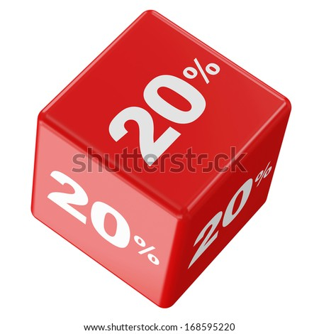 Discount Cube Collection isolated on white background (20%)