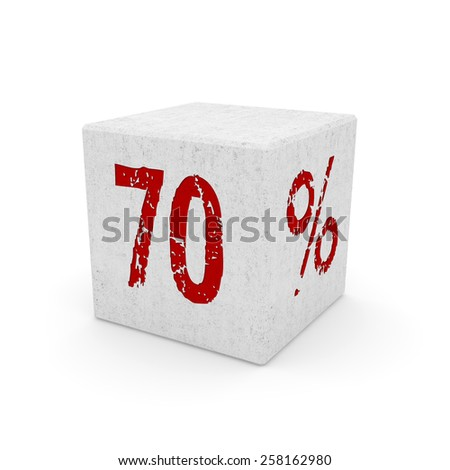 Discount icon isolated on white, three dimensional rendering. - stock photo
