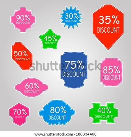 Discount labels - stock photo