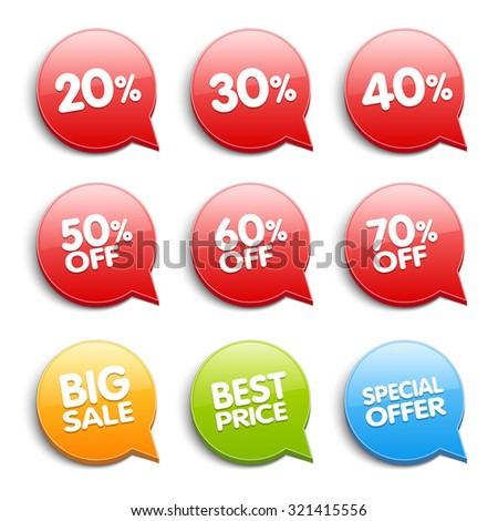 discount labels price tags your designs stock illustration 321415556