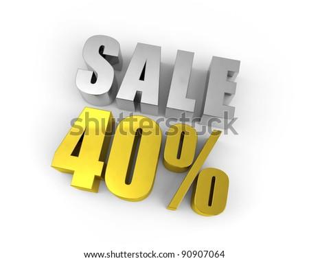 Discount of 40% - stock photo