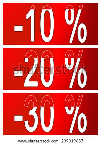 discount on goods red banner