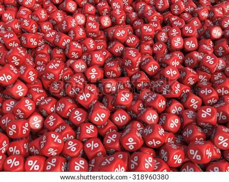 Discount percent cubes background. Sale Concept - stock photo
