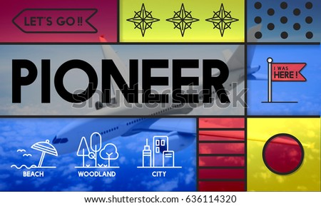 Discovery Pioneer travel outdoors graphic