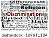 Discrimination and Human differences concept with word cloud. Social Issues - stock photo
