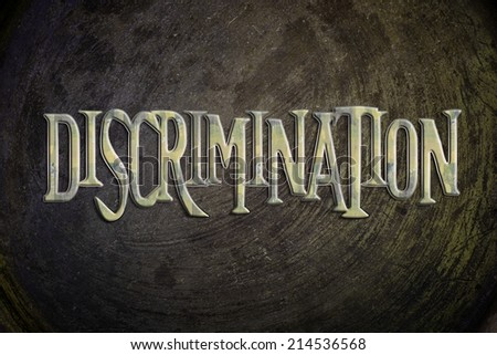 Discrimination Concept text on background - stock photo