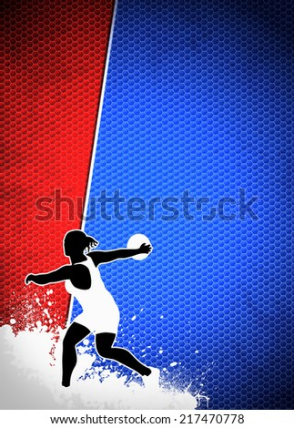 Discus Throw sport invitation advert background with empty space