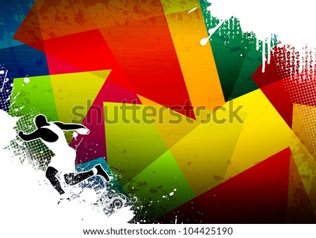 Discus thrower background with space (poster, web, leaflet, magazine)