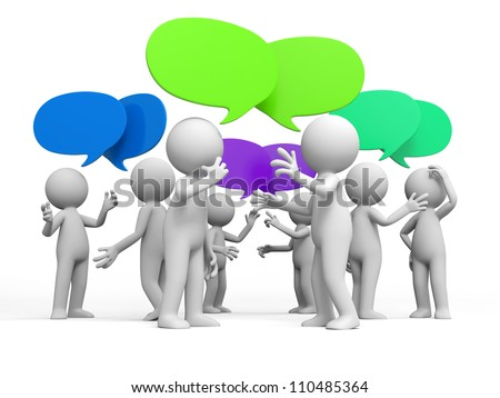 Discuss/debate/Several people are discussed - stock photo