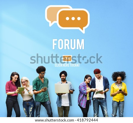 Discuss Forum Chat Group Topic Concept - stock photo