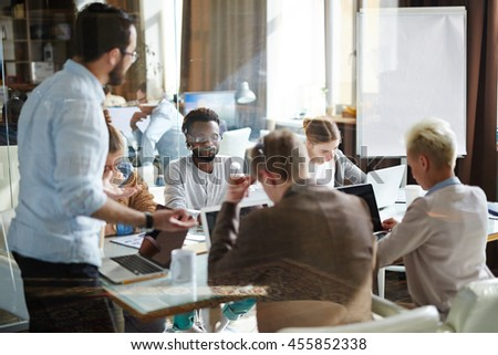 Discussing new project - stock photo