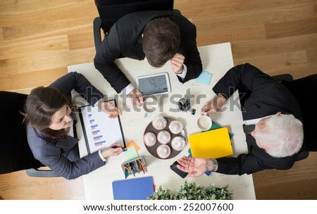 Discussion during business conference in agency - stock photo