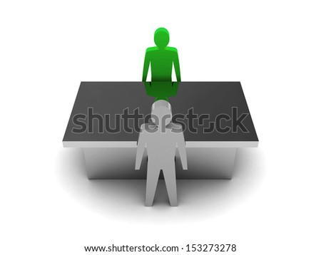 Discussion with Boss. Concept 3D illustration - stock photo