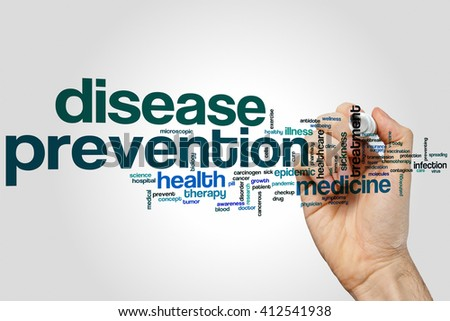 Disease prevention word cloud concept - stock photo