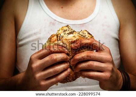 Disgusting Food - stock photo