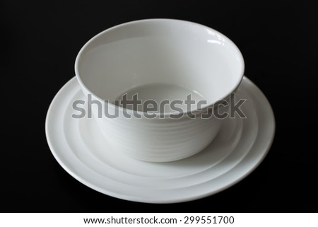dish and bowl