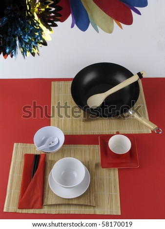 dish for chinese food -new year