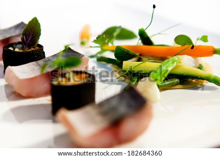 Dish of gastronomy  - stock photo