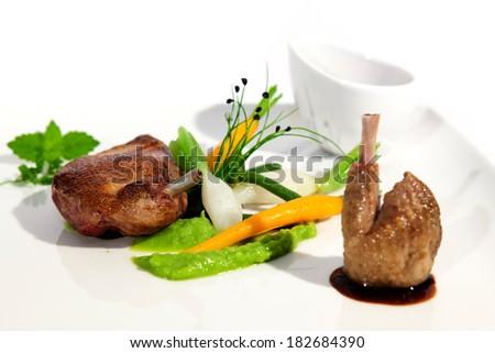 Dish of gastronomy  - stock photo