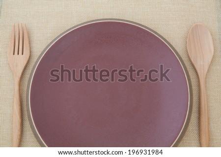 Dish on table - stock photo