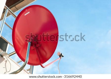 dish satellite television - stock photo