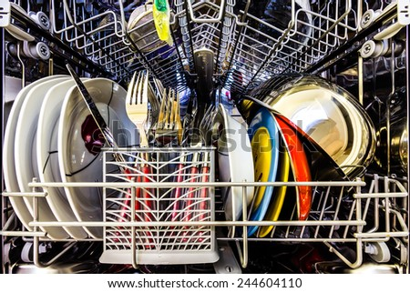 Dish washer - stock photo