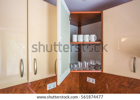 Dishes In The Upper Cupboard Kitchen