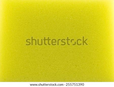 Dishwashing yellow sponge - stock photo