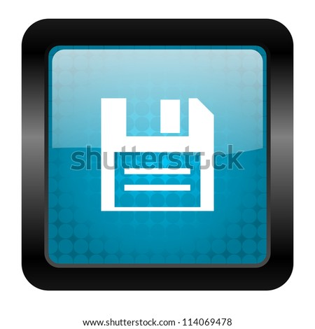 disk icon - stock photo