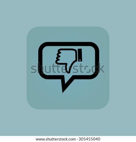 Dislike Symbol Chat Bubble Square On Stock Illustration 305455040