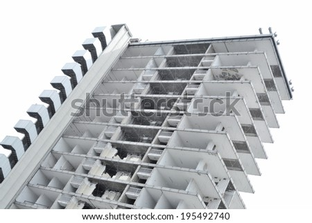 Dismantled building - stock photo