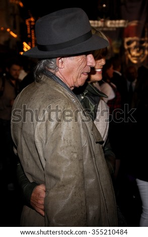 "DISNEYLAND, CALIFORNIA - May 7, 2011. Keith Richards at the World premiere of ""Pirates Of The Caribbean: On Stranger Tides"" held at the Disneyland in Anaheim."